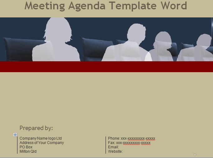 meeting agenda template word